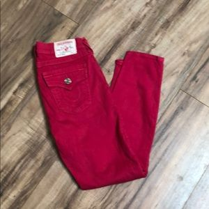 Authentic true Religon Brooklyn cropped jeans